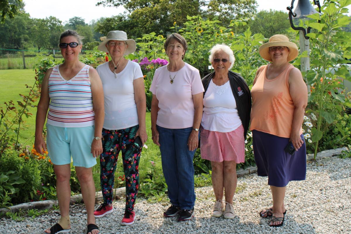 Volunteers at Garden Tour